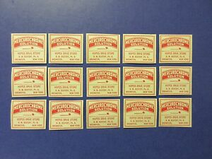15 Old Pharmacy Drugstore Apothecary Medicine Bottle Old Label Lot Vintage