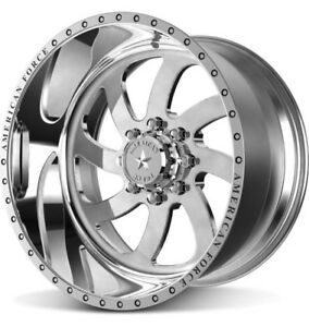4 New American Force Blade Wheels 20x12 Offroad Ford Dodge Chevy Jeep