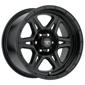 4 Level 8 Strike 6 17x9 6x139 7 6x5 5 12mm Matte Black Wheels Rims