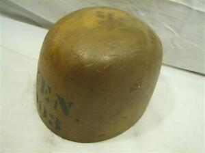 Antique Boys Hat Block Wood Form Mold 6 7 8 Ken 903 1 3 8 Oval Tool Millinery