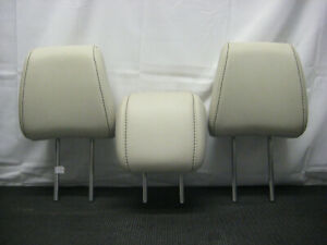 2011 2016 Ford Fiesta Oem Rear Back Seat Headrests Head Rest Leather Cream