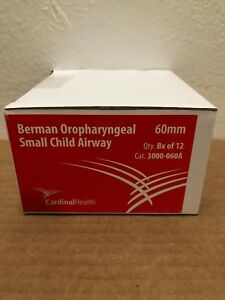Cardinal Health 3000 060a Berman Oropharyngeal Small Child Airway 60mm Box Of 12