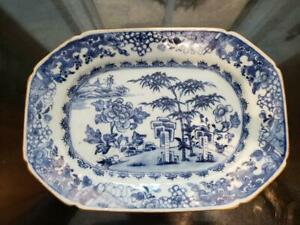 Antique 19th Century Chinese Export Porcelain Contonware Vegetable Dish