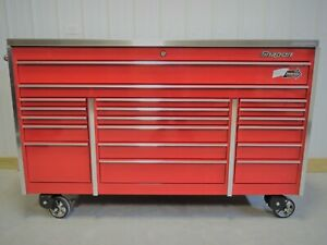 Snap On Candy Apple Red Krl1033 Tool Box Stainless Top Krl1072 Hutch