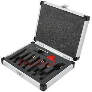 7 Pc 1 4 Indexable Turning Tool Set With Carbide Inserts Lathe Tool Holder