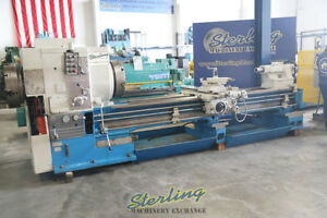 30 X 118 Used Mazak Heavy Duty Oil Country Lathe With 12 1 2 Hole Thru Spind