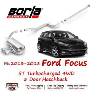 140504 Borla Touring Cat Back System Exhaust System Kit Ford Focus Turbocharged