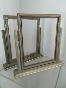Vintage Pr Art Deco Wooden Swing Picture Frames On Stand No Glass Holds 8x10