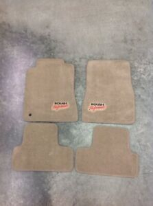 2005 2007 Roush Performance Mustang 4 Pc Floor Mats Tan Embroidery