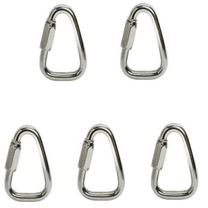 5pc 3 8 Marine Stainless Steel 316 Triangle Quick Link Shackle Boat Rigging