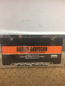 New Chroma Harley Davidson Chrome Car Truck Auto License Plate Frame