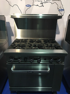 New 36 Range 6 Burners With 1 Full Standard Oven Stove Lp Gas Free Lift Gate