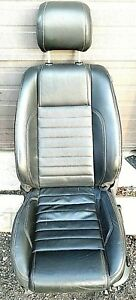 2013 Ford Mustang Gt 50 Front Seat Driver Left Side Black Leather Oem