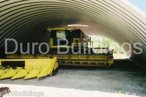 Durospan Steel 55x200x19 Metal Quonset Ag Building Machine Shed Open Ends Direct