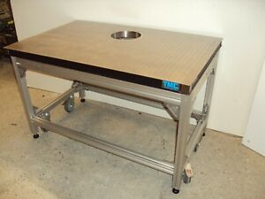 Tmc 48 Optical Table Breadboard Roll around Anodized Aluminum Bench Crated