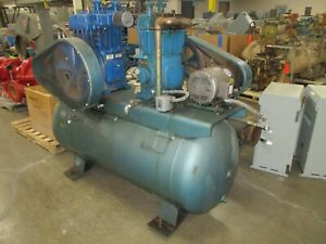 Quincy Duplex Air Compressor 350qrb 2 5hp Motors 208 230 460v Used