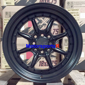 Xxr 002 5 Wheels 15 X8 20 Flat Black Deep Lip 4x100 Stance 01 Acura Integra Gsr