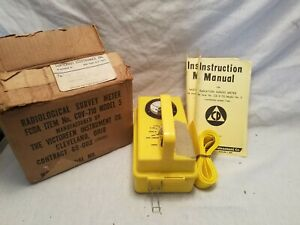 Vintage Radiation Detector Geiger Counter Cdv 710 Model5 Victoreen Instrument Co