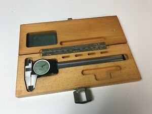 Brown Sharpe Swiss Made 6 Dial Caliper W Case