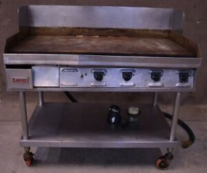 48 Lang Flat Top Griddle Grill Counter Top Electric On Wheels 3 Or 1 phase