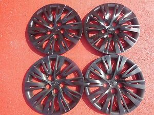Toyota Camry Hubcaps Wheel Covers 2012 2013 2014 16 Black Factory Caps 61163