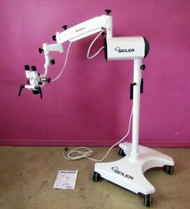 Seiler Iq Ent Surgical Led Microscope Xr6 Evolution Stand 4 2x 7x 11x Operating