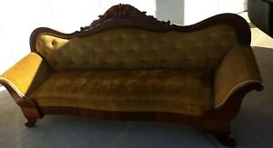 Vintage Late 1800 S Victorian Rosewood Sofa