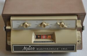 Vintage 1970s Maico Hearing Instruments Ma 12 Portable Audiometer