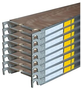 Cbm Scaffold 8 Aluminum Walk Board Deck Platform 7 L X 19 1 4 W 75 Lbs Sq ft