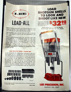 Lee Load-All Brochure from 1978- ORIGINAL $8.99
