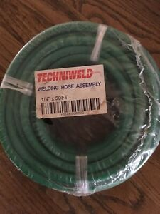 Techniweld Green Argon Welding Hose Assembly 50 Hsiargon50g