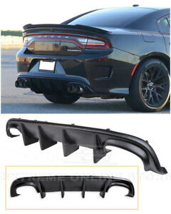 For 15 Up Dodge Charger Srt Factory Style Rear Bumper Diffuser Quad Exhaust