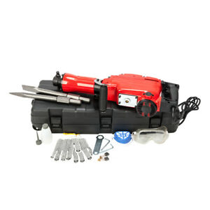 2200w Demolition Jack Hammer Electric Concrete Breaker Punch 2 Chisel Bit Red