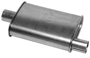 Dynomax 17702 Thrush Turbo Muffler 3 25 X 7 75 2 In Inlet Outlet Oval
