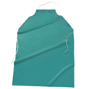 35 x45 20 Mil Vinyl Raw Edge Apron Green Dozen
