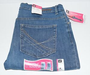 LEE WOMAN'S CLASSIC FIT ARIZONA STRAIGHT LEG JEANS - 18 MED - STRETCH