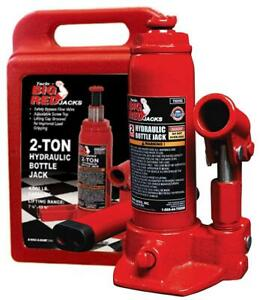 Torin Big Red Hydraulic Bottle Jack With Carrying Case 2 Ton Capacity