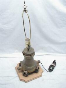 Vintage Neptune Trident Brass Water Meter Company Award Lamp Light
