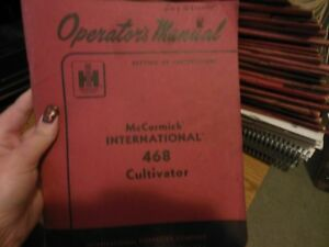 International Mccormick 468 Cultivator Operators Manual