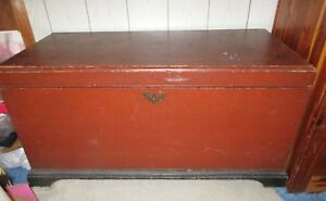 Blanket Chest Antique Late1800 S Amish Lancaster County Pa 43 X 20 X 22