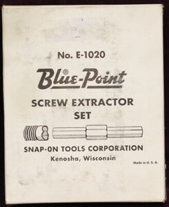 Blue point Screw Extractor Set No 1020 by Snap on Tools Made In Usa