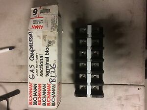 Buchanan 1437396 7 Terminal Block Box Of Qty 6