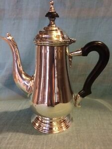 Coffee Tea Pot English Like Vintage Crosby Electroplated Knickle Silver India