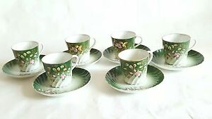 Antique Russian Porcelain Cup Saucer Set Kuznetsov