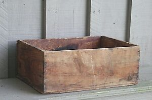 Old Vintage Primitive Rustic Wooden Shipping Crate Box Country Farm Shelf Decor