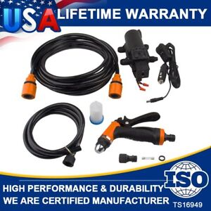 12v Jet Spray Gun 160psi High Pressure Car Electric Washer Hose Wash Pump Kit Us