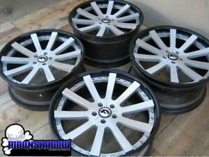 21 Forgiato Concavo C Brushed Silver Gloss Black Wheels Rims Mercedes Benz
