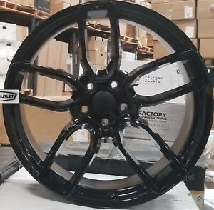 20 Staggered Flow Forged Wheels Black Rims Tires Fit Dodge Challenger Charger