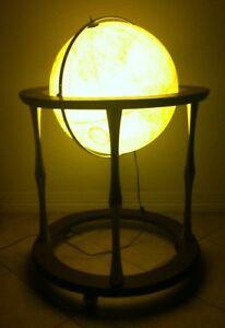 Vintage Replogle Heirloom 16 Light Up Lamp Floor Globe Wood Stand