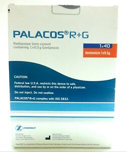 New Sealed Zimmer Surgical Palacos R g Radiopaque Bone Cement 1x40 Exp 2021 06